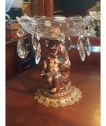 Vintage Val St Lambert Tazza Compote Centerpiece W/ Putto Chrub Pedestal... - $241.70