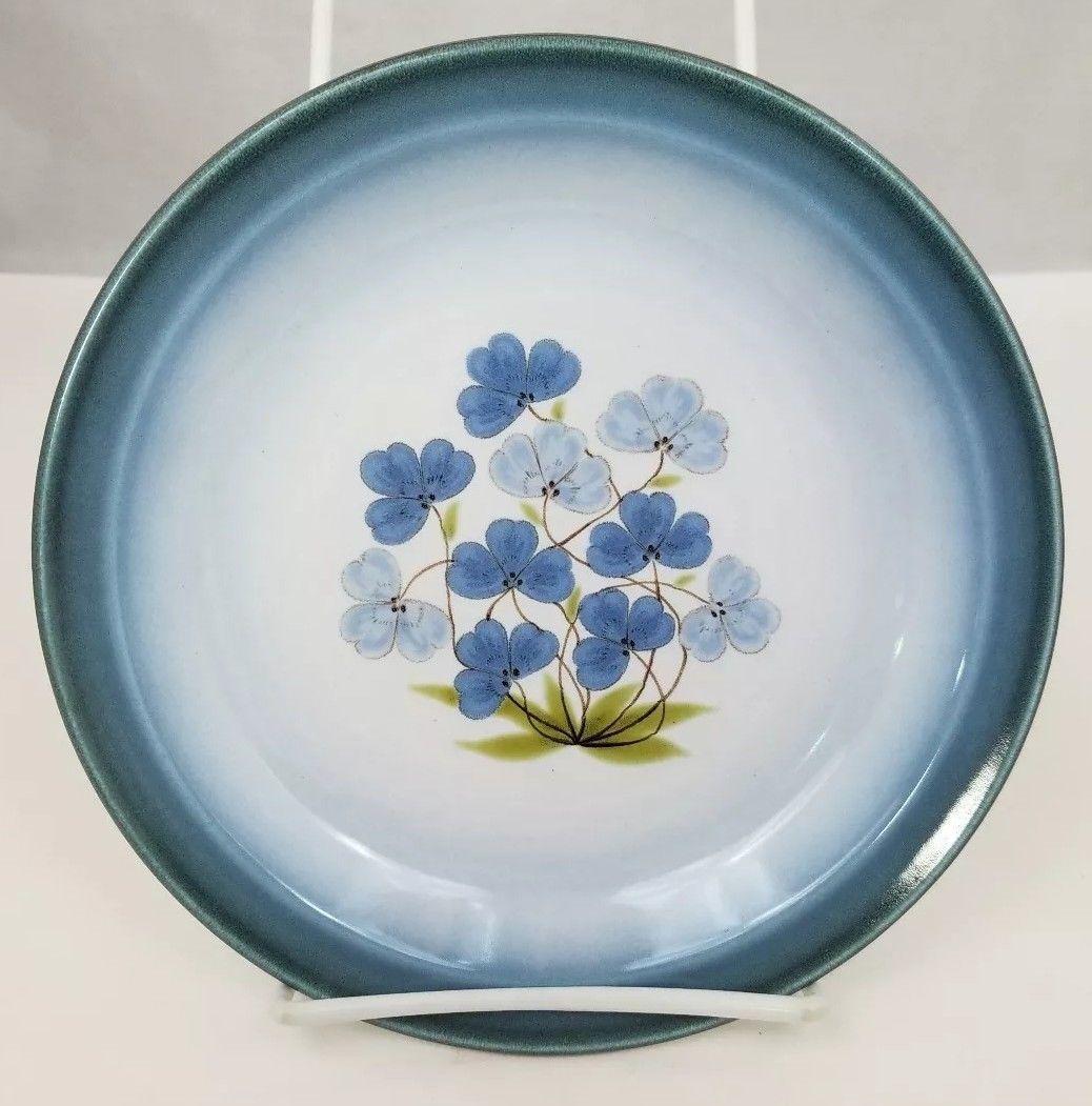 """Nikko Gradiance Bread Plate Set of 4 Azure Leafette Dish Microwave Safe 7.5"""" image 4"""