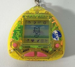 1997 Giga Pet Cyber Kitty Virtual Pet Tamagotchi Keychain Toy Vintage Wo... - $36.72