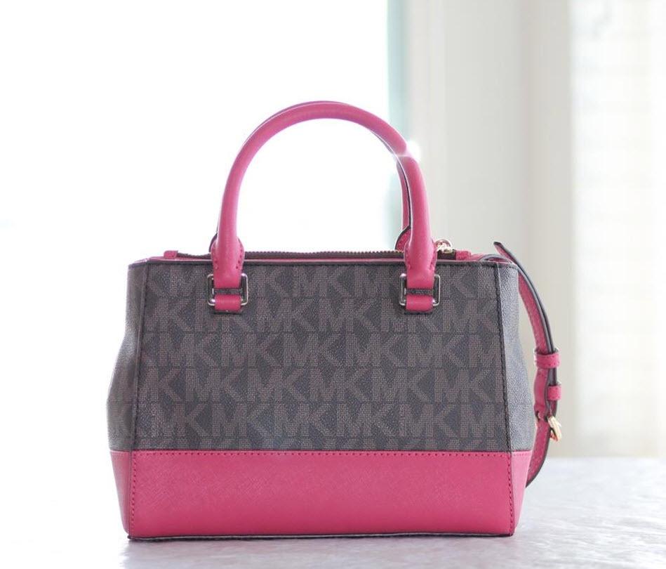95c83ce5ec3d Michael Kors Kellen XS Satchel Small Crossbody brown pink Handbag Hailee