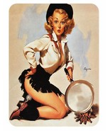 Vintage Style Pin Up Girl Sticker P72 Pinup Girl Sticker - $2.65