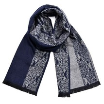 Men Winter Scarf Luxury Designer Fashion Scarves Cotton Striped Bandana ... - $22.99