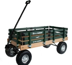 HEAVY DUTY LOADMASTER DARK GREEN WAGON - Beach Garden Utility Cart AMISH... - $287.07