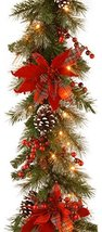 National Tree 9 Foot by 12 Inch Decorative Collection Tartan Plaid Garland with  image 12