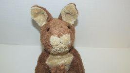 Brown cream tan Kangaroo mom baby joey beanbag plush soft floppy no tags image 3