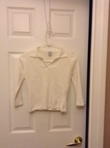 White guess 3/4 sleeve sweater small - $18.55