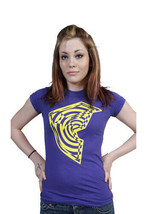 Famous Stars & Straps Womens Juniors Purple Yellow Twisted BOH T-Shirt NWT image 2