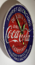 "Coke Coca-Cola Delicious Refreshing 9"" Circle Wall mount Clock NEW image 2"