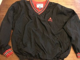 Vintage Champion Jacket Bass ale UK Black Red XL Pull over Pullover Mint - $33.24