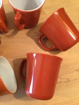 Vintage 60s set of 6 Corelle by Pyrex Burnt Orange mugs (discontinued and rare) image 3