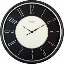 "Wall Clock 29"" 2.5' Large Analog Modern Contemporary Sleek Black Classic... - $229.00"