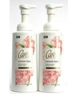 2 Caress Botanicals Shower Foam White Orchid Coconut Milk Leave Skin Sof... - $30.99