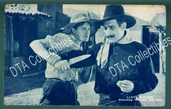 Primary image for LLOYD HUGHES-SILENT FILM-1920s-ARCADE CARD G