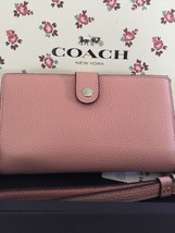 Coach Nwt Phone Wristlet Wallet Polished Pebble Leather Soft Pink With Gift Box - $75.00