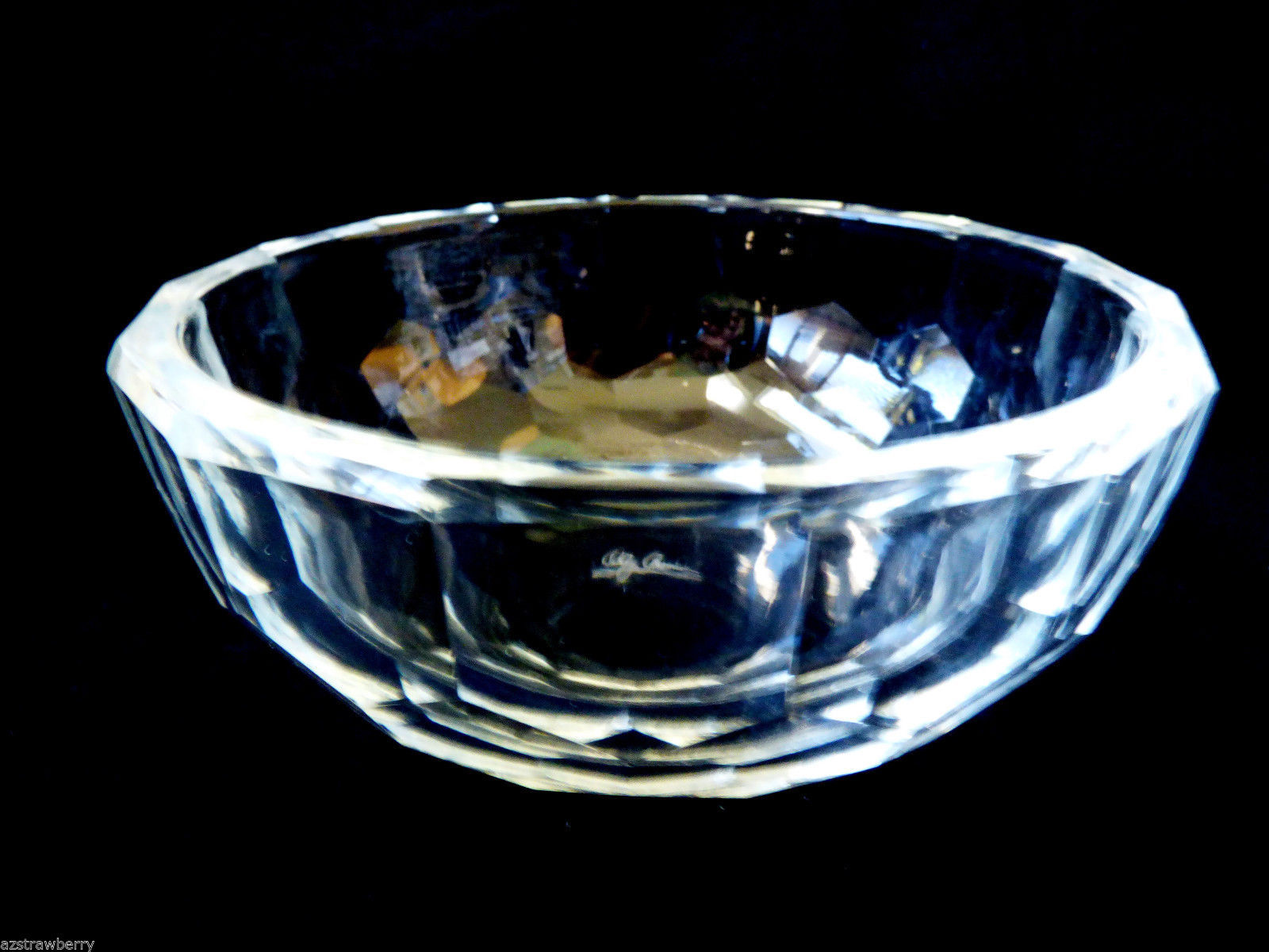 "Primary image for OLEG CASSINI CLEAR CRYSTAL BOWL 4.5"" BRAND NEW IN BOX"