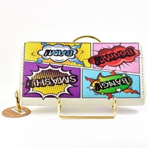 Heimish Atlantic Fashion Cartoon Comic Book Words Clutch Wallet New w Tags image 2