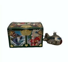 Old World Christmas Airplane Ornament Hand Painted Mouth Blown - $19.77