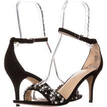Nine West Innocent Jeweled Ankle Strap Sandals 200, Black, 10 US - $31.67