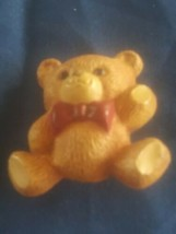 Vintage Hallmark Teddy Bear With Red Bow. Pin Brooch - $4.00
