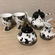 Snow White Teapot & Cup & Milk Pitcher & Sugar Pot Set Seven Dwarfs Fran... - $220.77