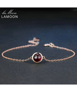 Classic Simple 6mm 1.1ct 100% Natural Red Garnet 925 Sterling Silver Jew... - $40.12