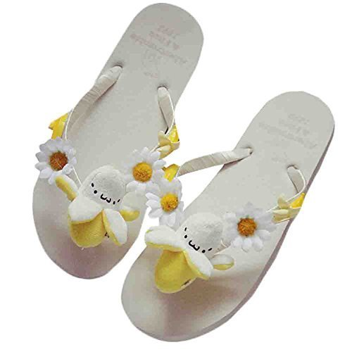 A Pair Banana Slippers Leisure Slippers Summer Cute Flip-flops For Holiday