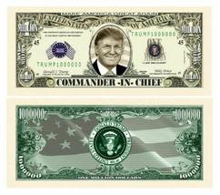Pack of 25 - Donald Trump Presidential Novelty Dollar Bill Commander In ... - $8.90