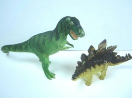 "Lot of 2 Safari LTD Carnegie Dinosaurs ~ 1988 Stegosaurus 6"" and T Rex 11"" - $20.57"