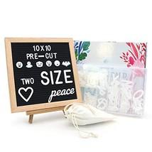 Felt Letter Board 10 x 10 in, Oak Letter Board 488 Pre Cut Characters In... - $27.60