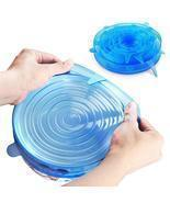 6PCS Reusable Food Cover Fresh Keeping Sealing Stretch Lid Kitchen Stora... - €14,96 EUR