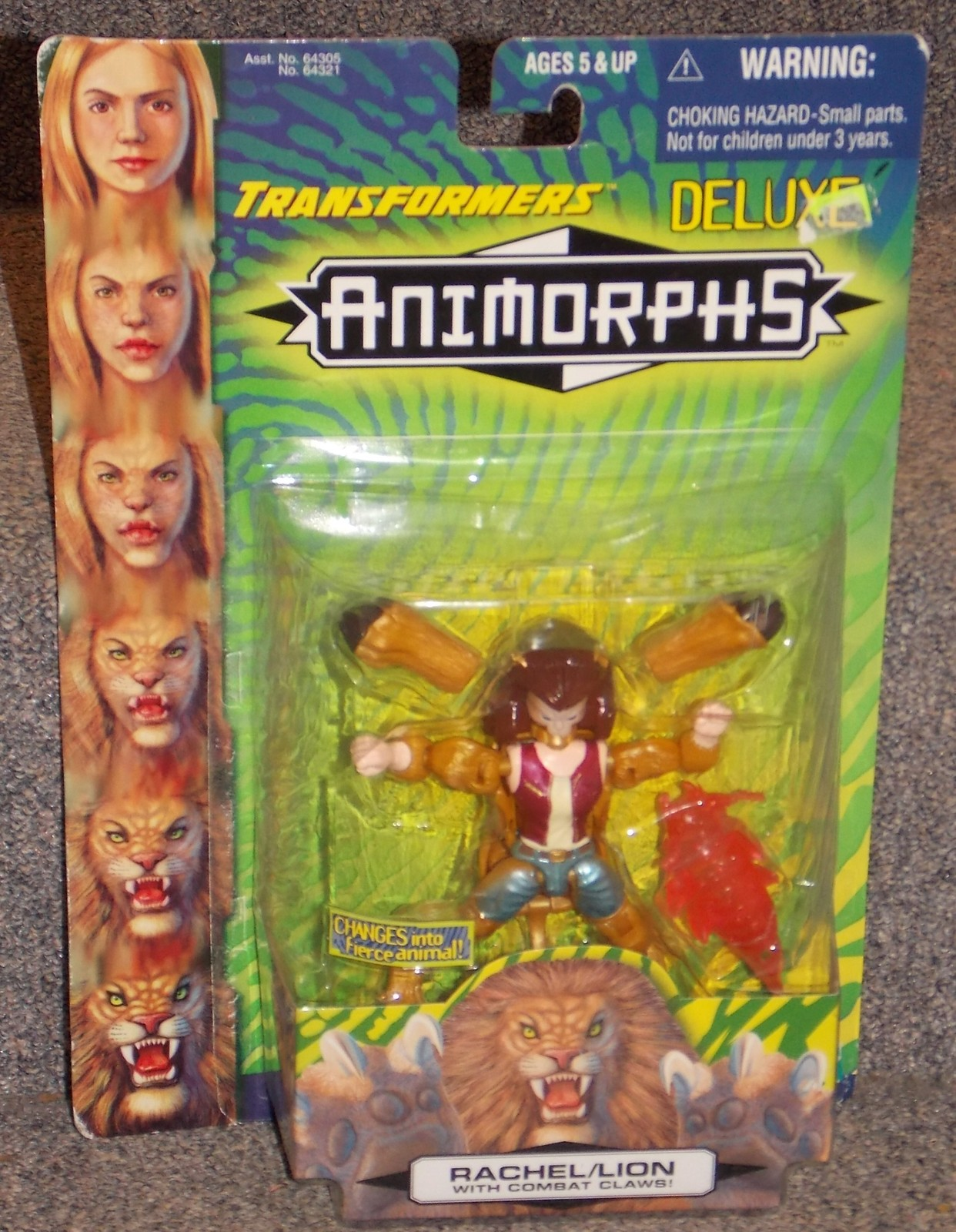 Primary image for 1998 Transformers Animorphs Rachel/Lion Action Figure New in The Package