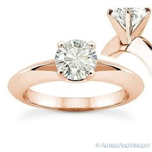 Forever ONE D-E-F Round Cut Moissanite 14k Rose Gold Solitaire Engagement Ring - €628,69 EUR - €2.011,84 EUR