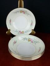 "set fruit bowls Georgian Homer Laughlin eggshell 5.5"" floral 1954 vintage dinner - $17.77"