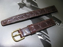 An authentic Vintage genuine leather watch band new , 14mm Crocodile Calf - $27.34 CAD