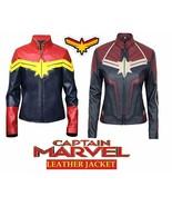 Women's Captain Marvel Slimfit High Quality Marvel Costume Faux Leather ... - $73.89