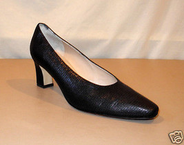 Rangoni of Florence Black Embossed Reptile Leather Pumps - Women's Size ... - $23.70