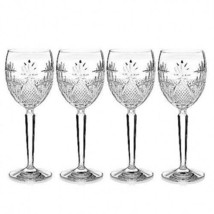 Waterford Crystal Seahorse Nouveau Goblets 9 oz Set of 4 # 40027974 - $193.55