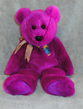 "TY Beanie Buddies Plush Millenium Bear Purple Plush Stuffed Toy 2000 14""... - $5.50"
