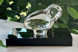 Baccarat French Crystal Corinthian Owl New Mint with Free Display Pedestal - $97.76