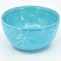 Tabaka Chigware Handmade Soapstone Blue Flower & Star Design Trinket Bowl Kenya image 1