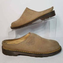 Dr. Martens Womens 5 Mule Shoes Beige Leather Slip On Air Cushion Soles 8214 - $58.99