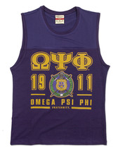 Omega Psi Phi Fraternity PURPLE SLEEVELESS MUSCLE SHIRT TOP T-SHIRT Q-DO... - $24.00