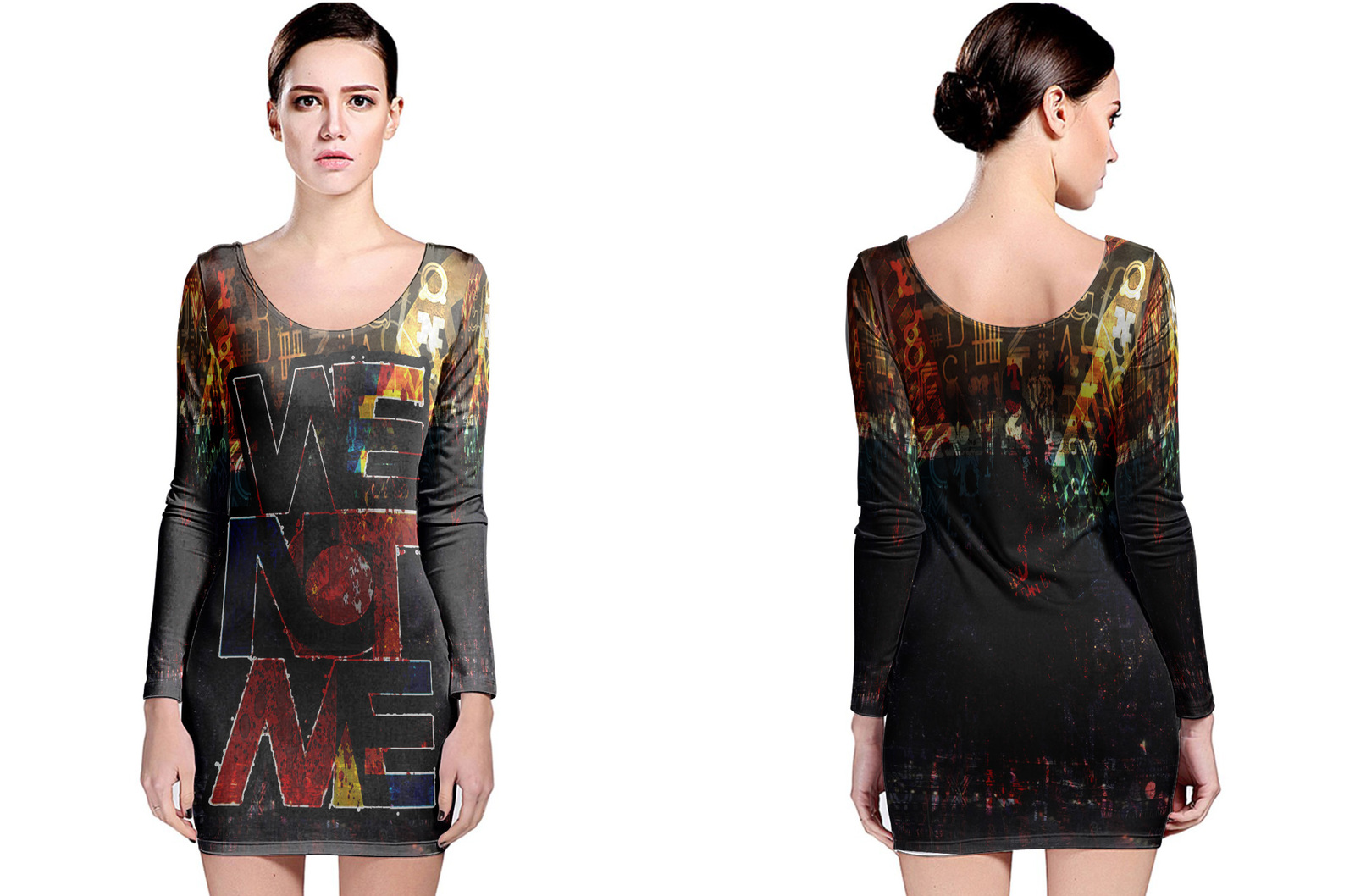 Primary image for Retro Collection #5 Women's Long Sleeve Bodycon Dress