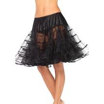 Leg Avenue Women's Shimmer Organza Knee Length Petticoat Skirt Black One Size - $23.99