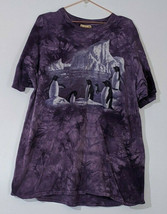 The Mountain Penguin Iceberg Tie Dye T-Shirt XXL USA Made 2XL Short Sleeve  - $19.75