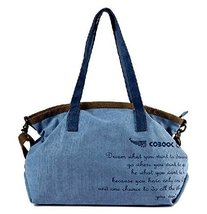 All-match Modern Handbag Shoulder Bag Unique Canvas Cross Body Bag BLUE
