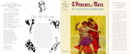 Burroughs, Edgar Rice A PRINCESS OF MARS facsimile jacket for 1st BURROU... - $21.56