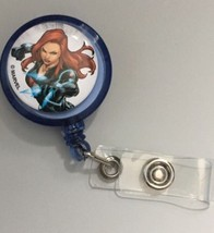 Black Widow Clip badge reel key card ID holder lanyard retractable Marve... - $8.00