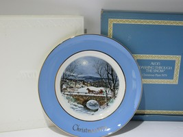 1979 Avon Christmas Plate Series 7th Edition Dashing Through The Snow w/... - $16.83