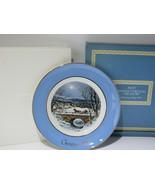 1979 Avon Christmas Plate Series 7th Edition Dashing Through The Snow w/... - $16.83